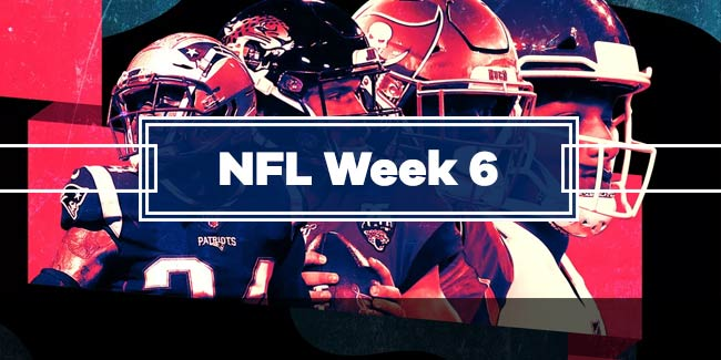 NFL Week 6 Betting Previews and Predictions, HRwager Sportsbook