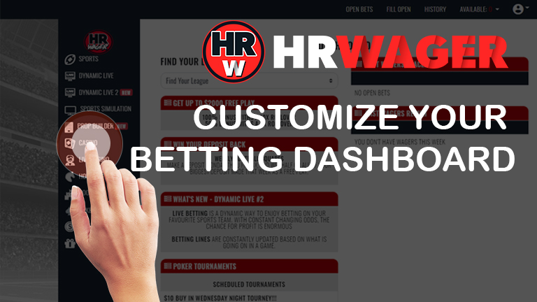 Customize Your Betting Dashboard at HRWager.ag